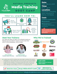 JOIN US: Natural Products Media Training Boot Camp